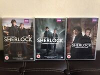 Sherlock series 1,2 and 3