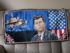NEW PRICE Kennedy Tapestry with PT109 Cambridge Kitchener Area image 1