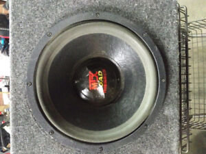 """Mtx 12"""" subwoofer with box"""