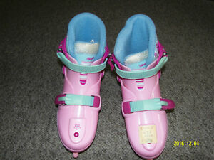 Girl BARBIE skates adjust from size 1 to size 4.