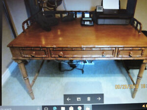 "Desk (Chris Madden collection) with drawers.50""x31"".Bamboo look"