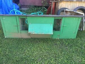 Double Outdoor Rabbit Hutch