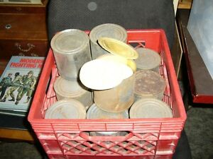 Military -20 Canadian WWII Hard Tack Buscuit Tins