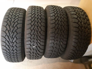 4 Goodyear Nordic winter tires. 195/65R15 on rims.