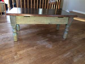 Table de salon base antique