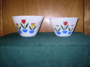 Fire King Tulip Bowls (2)