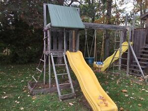 Children's Playhouse and Swingset