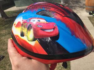 Lightning McQueen bike helmet. Disney cars