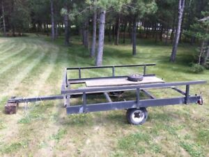 Single axle 6'x8' homemade utility trailer unfinished
