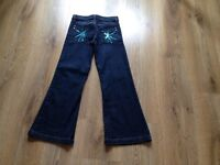 Marks and spencer autograph girls range blue denim jeans clothes clothings age 8-9 9 yrs old