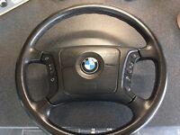 BMW e39 multifunction steering wheel