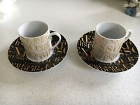 Pair of Espresso Cups with Saucers