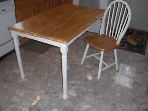 Table (30 X 48) and 4 Chairs