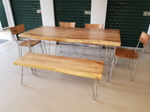 Dining Set - Solid Acacia with Live Edge