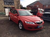 2004 Mazda 6 2.0 Ts, 5 Hatchback, Petrol, Red, Only 67,000 and 2 Owners, FSH Main Dealer