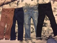 4 pairs of girls jeans