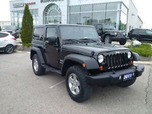 2011 Jeep Wrangler Sport 4x4 with 3 piece hardtop, clean! London Ontario image 5