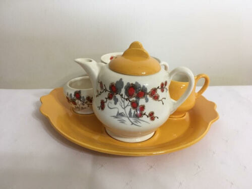 Vintage Royal Staffordshire Ceramics Breakfast Tea for One Set by Clarice Cliff