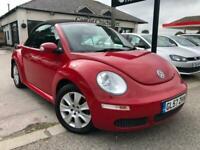 2008 Volkswagen Beetle 1.6 LUNA 8V petrol convertible red only 75,000 miles Conv