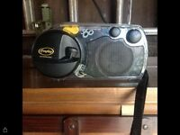 Windup and solar power radio