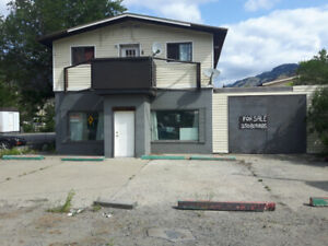 C2 zoned commercial property in Keremeos with apartment.