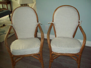 RATTAN CHAIRS, 4, FOR $200.00