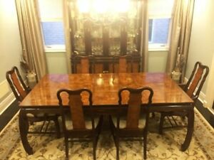 7 Piece Two-tone Mahogany Formal Dining Table/Chairs