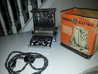 General Electric Vintage Toaster in box