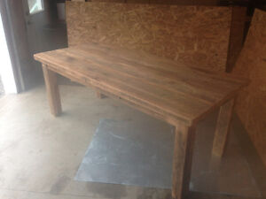 Reclaimed wood table.