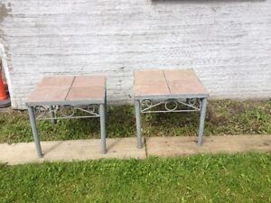 2 MATCHING OUT AND IN SIDE END TABLES