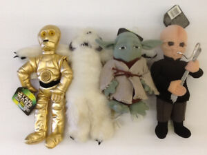 Star Wars Buddies 1997 Yoda,C3P0,Wampa & Figrin D'an Plush Toys