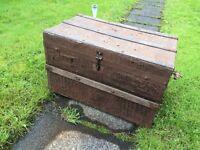Metal vintage trunk