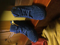 Louboutin blue suede