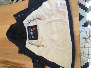 j. Crew down filled coat.  Size 2T