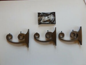 Double curtain rod Hooks, Aluminum alloy, coated