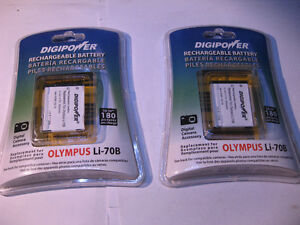 Qty 2 Lithium ion Batteries 3.7V Replacement for Olympus Li-70B