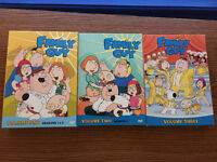 Family Guy DVD volumes 1, 2, and 3