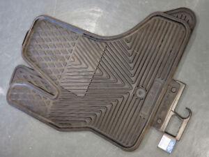 Floor Mats - Full Size Ford Van - Front - Black - Vinyl Floor