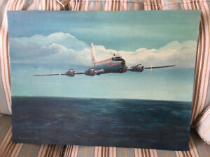 Acrylic on board painting Aviation Artist