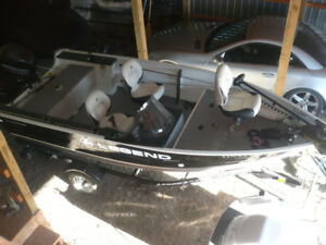 Legend  fishing boat   loaded with accessories