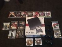 PlayStation 3 120gb slim line 16 games 4pads Bundle