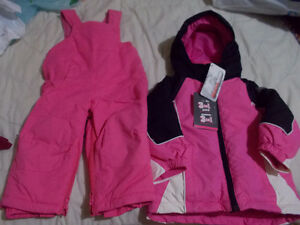 Pink color snow suit brand new with tag 24month
