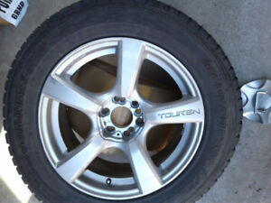 YOKOHAMA  SET OF FOUR  WINTER TIRES with AL. MAGS