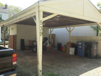 FREE CARPORT AND SHED COMBO