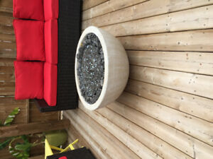 Outdoor fire bowl NG fireplace fire pit