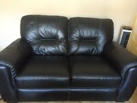 3+2 seater leather settee