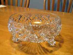 Great bridal shower gift...Solid crystal footed bowl