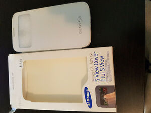 Samsung Galaxy S4 S-view Cover (case) - White Kitchener / Waterloo Kitchener Area image 1