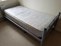 Single bed and mattress £75