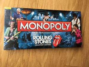 """Rolling Stones"" Monopoly"" Board Game - new / sealed / mint"